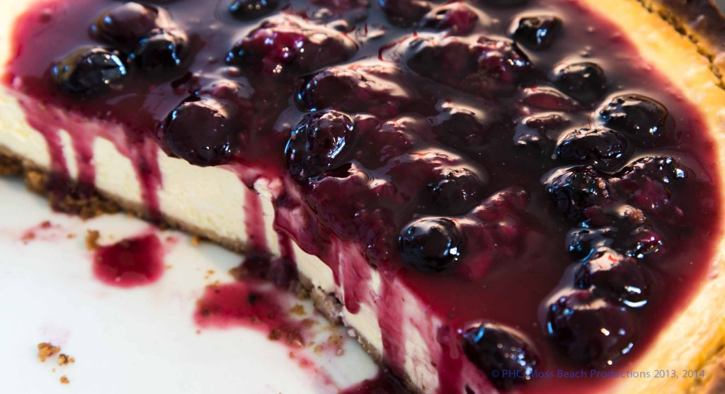 Lemon Cheesecake with Cherry Sauce (from Book)