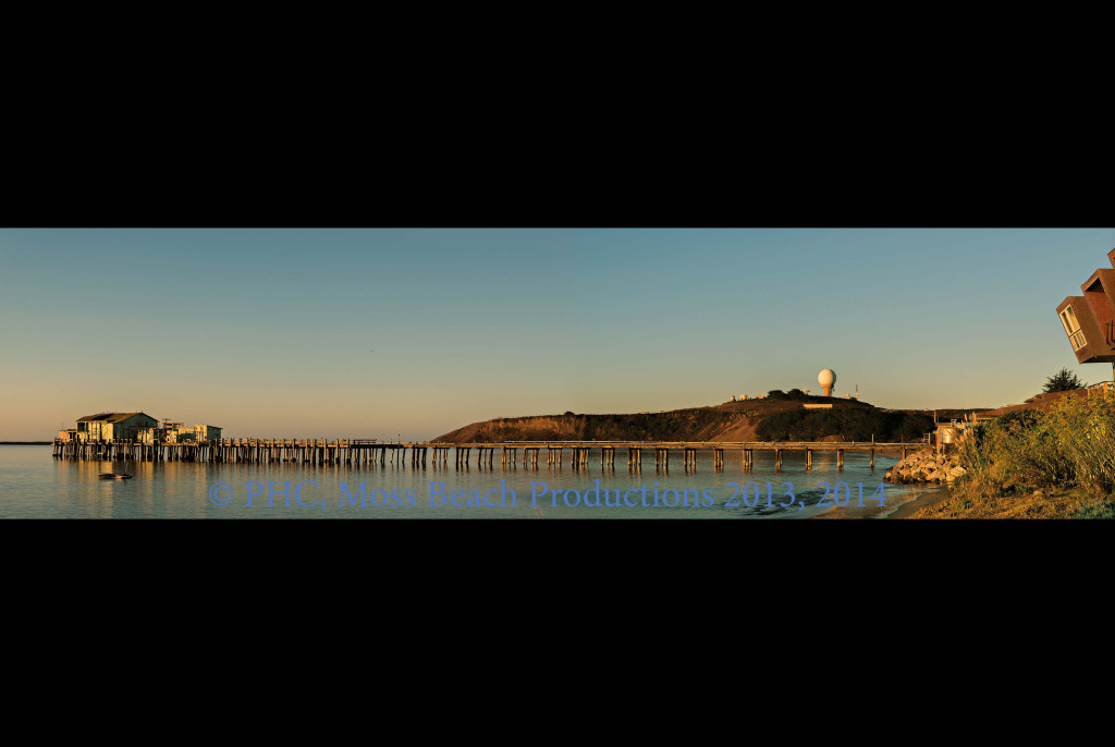 "Old Pier at Pillar Point (36""x24""; Silver Satin) Complete photo Special Collector's Item - by Special Request"